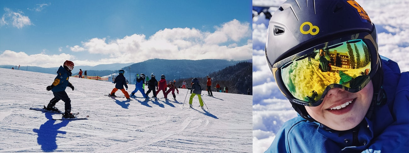 Детский инструктор в Грузии Эрик Оганесян обучит вашего ребёнка уверенно кататься на горных лыжах или сноуборде